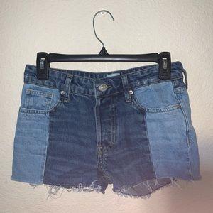 BDG Two Tone Jean Shorts Size 25